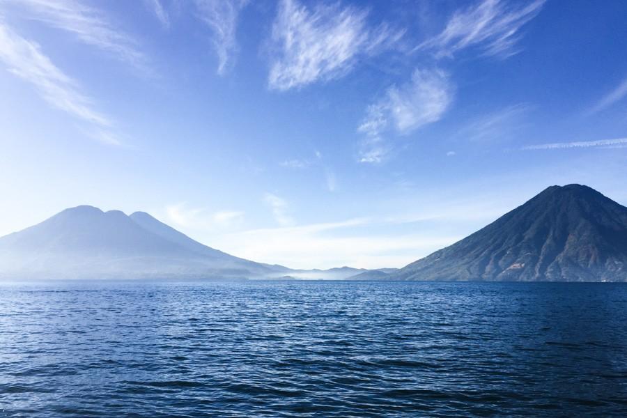 volcanoes lake atitlan guatemala