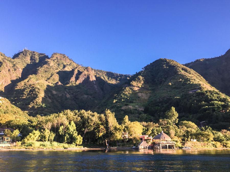 mountains lake atitlan guatemala