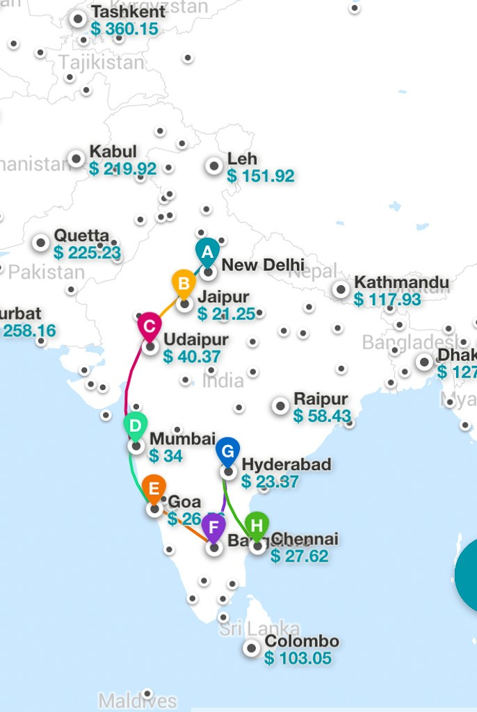 How You Can Use Kiwi\'s Multicity Tool to Fly ALL Around India for ...