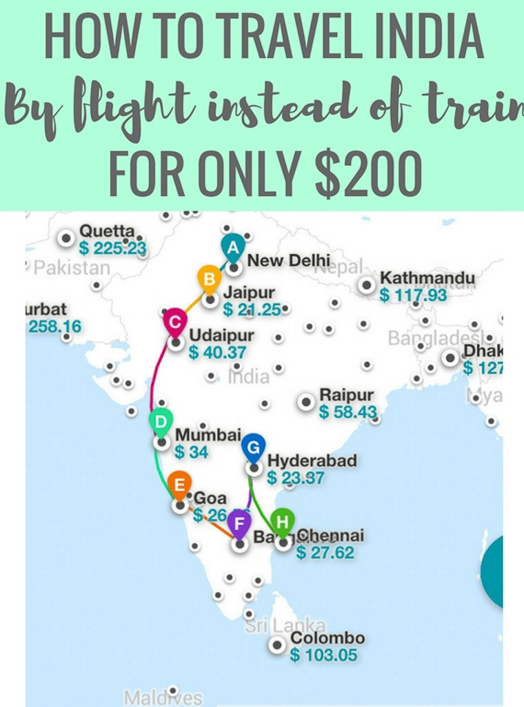 How You Can Use Kiwi's Multi-City Tool to Fly ALL Around India for $200