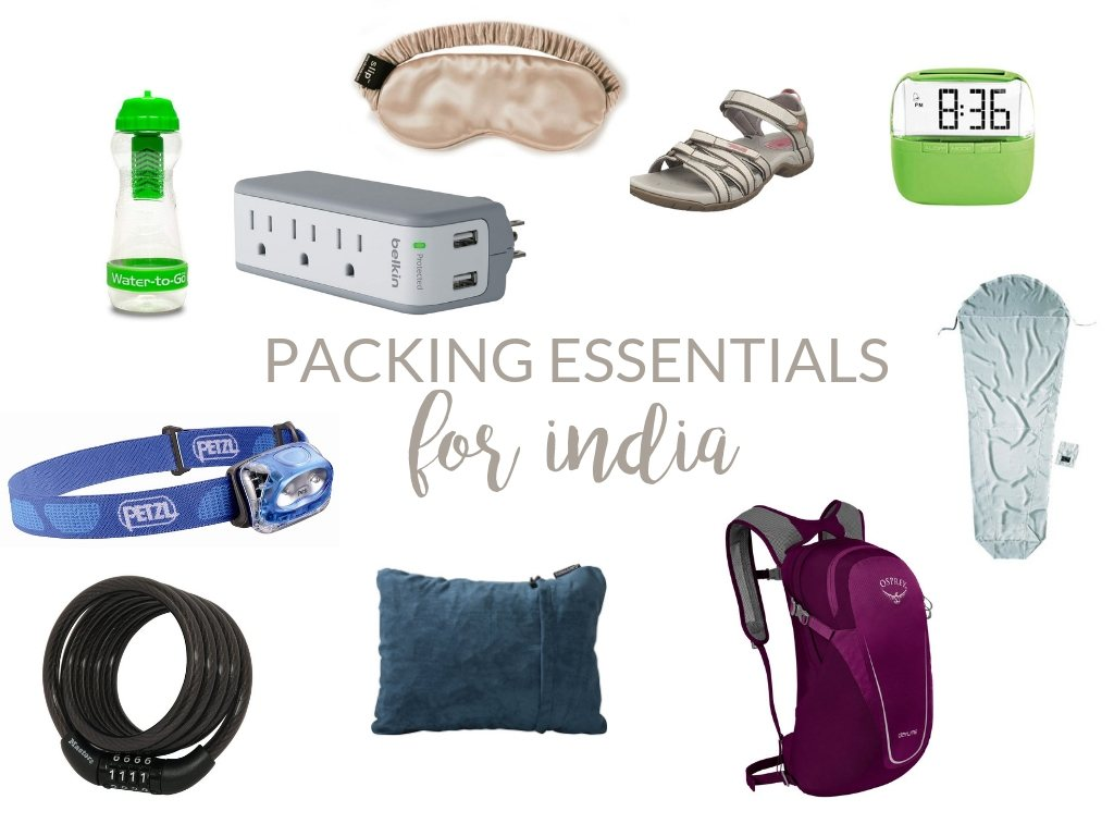 travel essentials for india