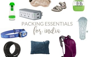 travel essentials for india