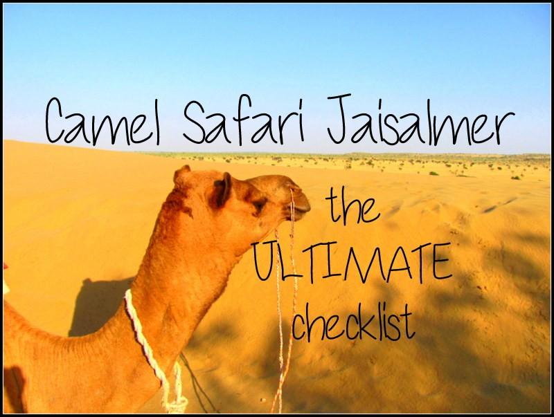 camel safari jaisalmer the ultimate checklist
