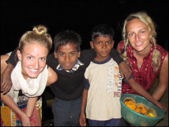 meeting travelers in India