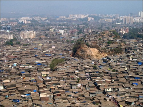 slums mumbai airport