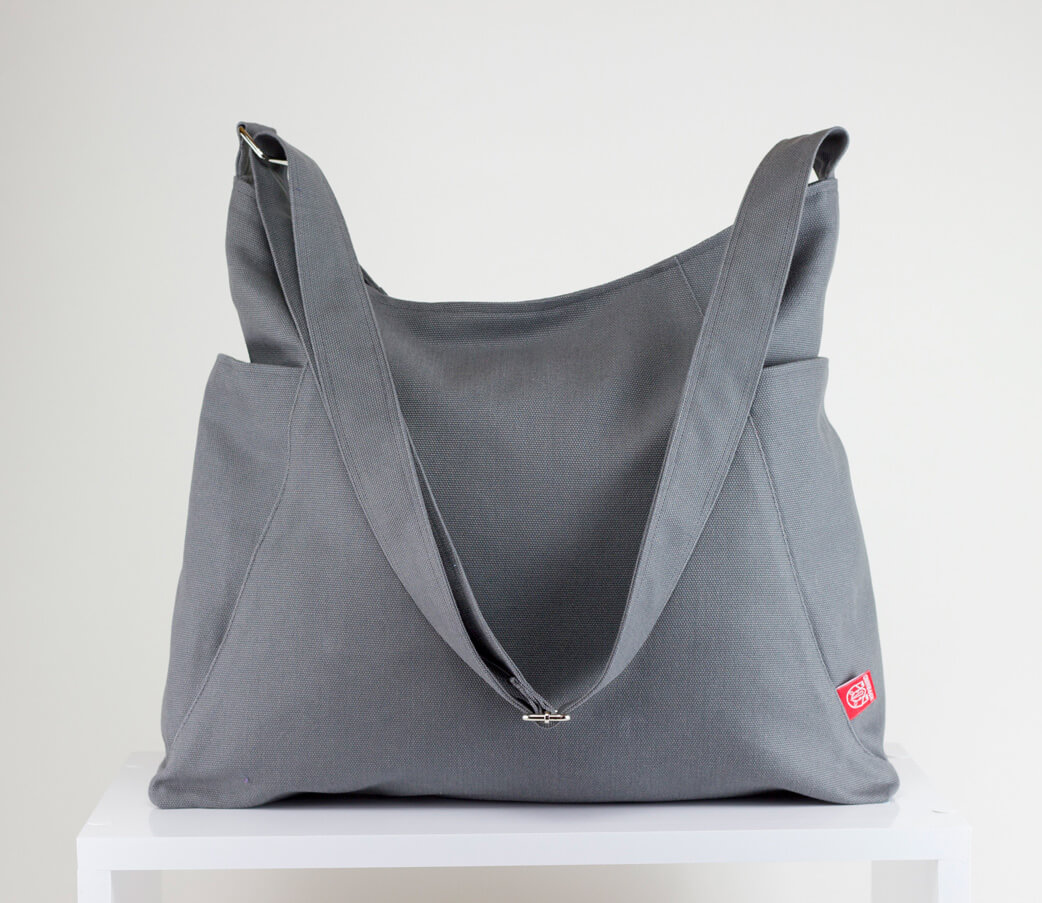 54796e34d6 Gray Hobo Bag Durable Large Pockets Extra Large Bag Long Strap ...