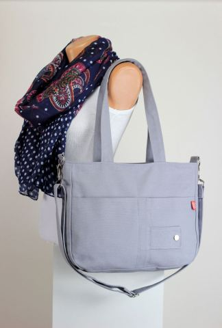 light gray bag