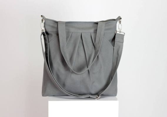 Gray Shoulder Bag