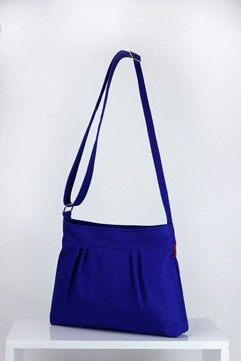 Sax blue small crossbody canvas purse bag