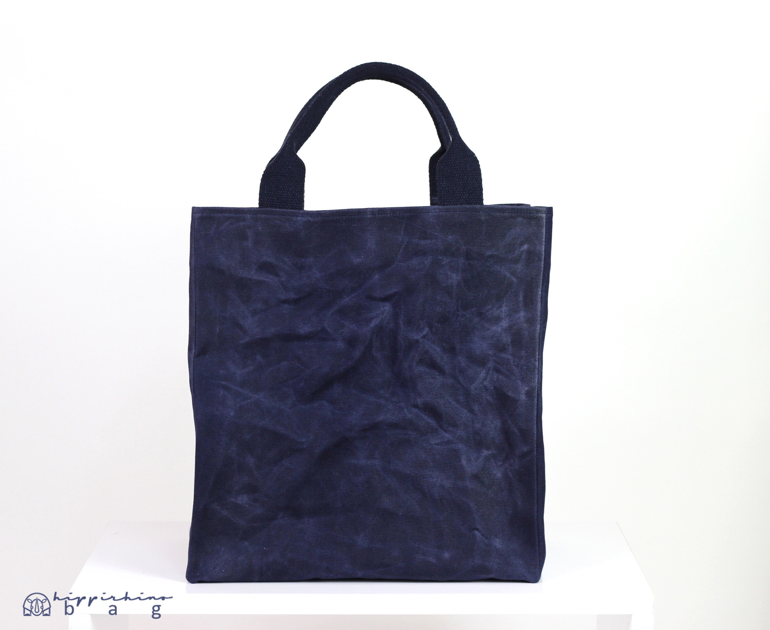 Extra Large Waxed Canvas Reusable Grocery Bag Cotton Handle Deep