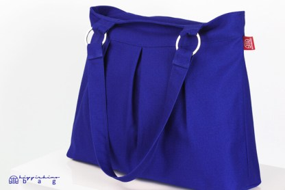 Blue Canvas Shoulder Bag