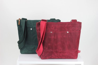 Colorful Unisex Waxed Tote Bag