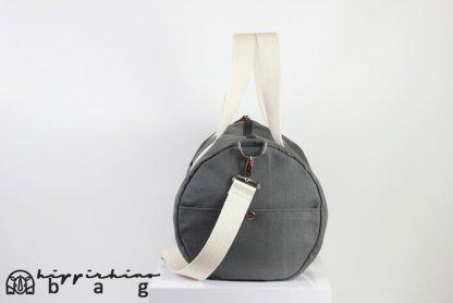 Grey Duffle Unisex Sport Bag