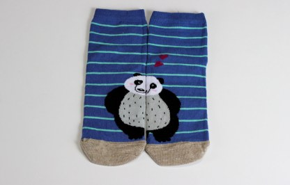Panda happy funny socks