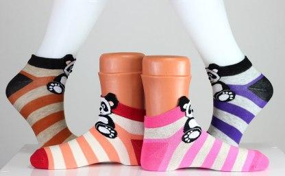 Striped Panda Bear Socks