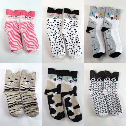 Colorful Cat Socks