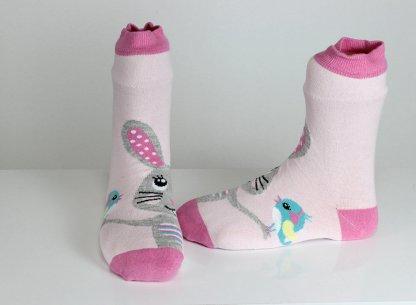 Rabbit Pink Socks
