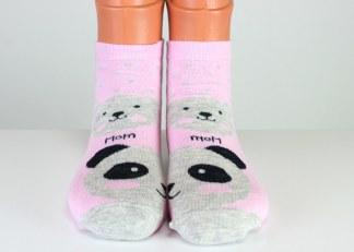 pink teddy mom socks