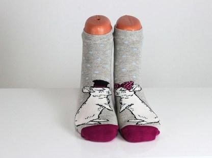 Mouse Kissing Socks