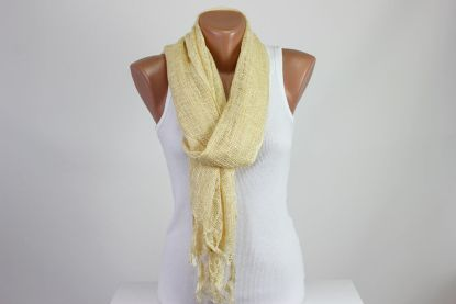 Yellow Perforated Scarf