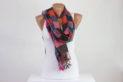 wrinkled scarf