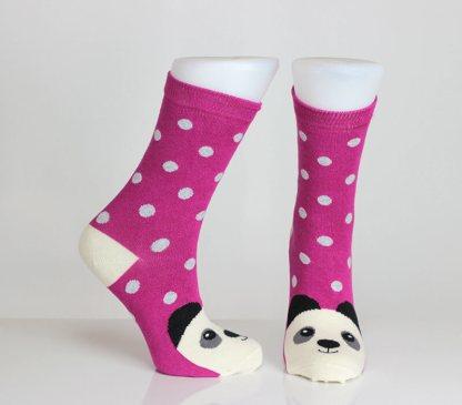 Pink Panda Bear Socks