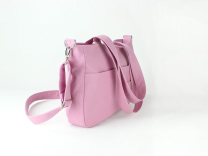 Pink Shoulder Crossbody Canvas Bag