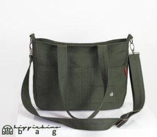 Dark Green Canvas Ladies Bag