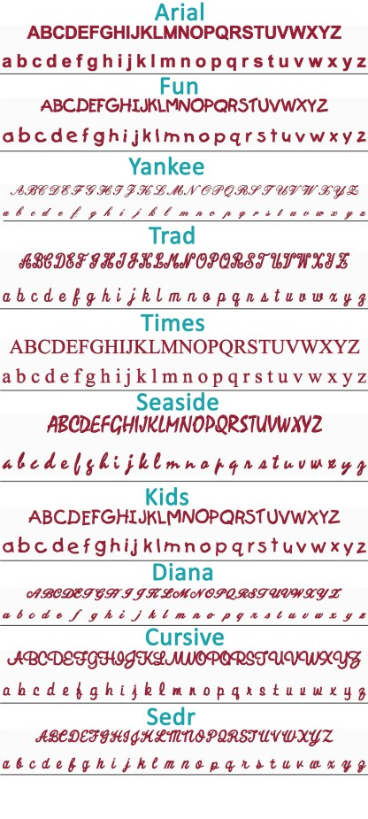 Embroidery Font Style