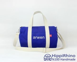 Monogram embroidered sport bag
