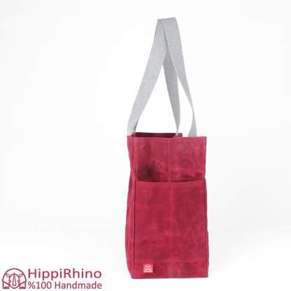 Waxed Shoulder Grocery Market Shopping Bag