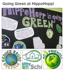 eco-friendly, green, clean indoor playground hippohopp