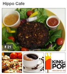 Organic and natural healthy hippohopp cafe