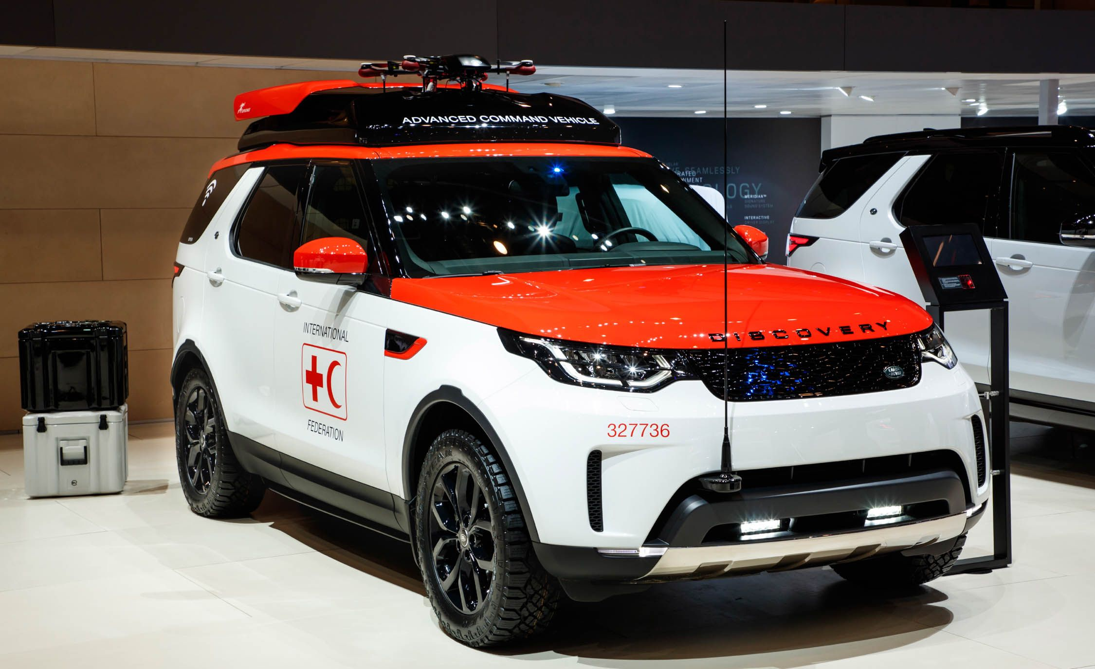 This Land Rover Is a Mobile Drone Dock for Disaster Relief