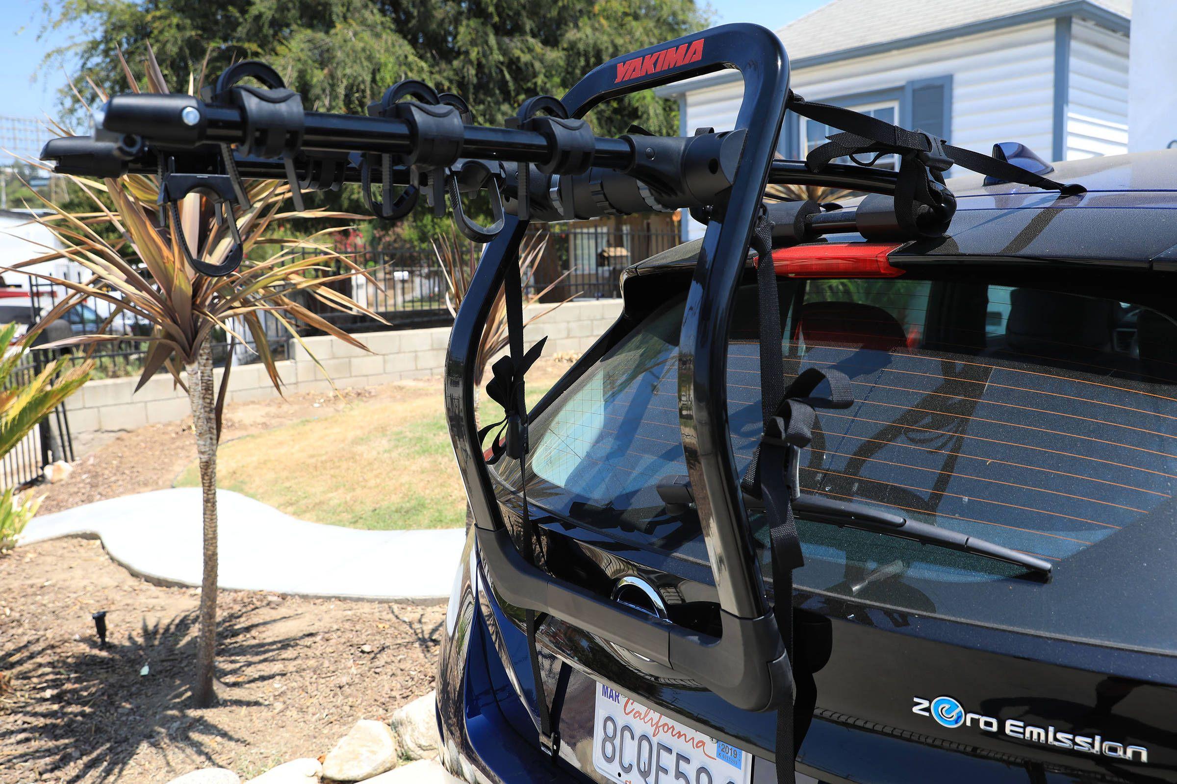 sport utility with a yakima bike rack