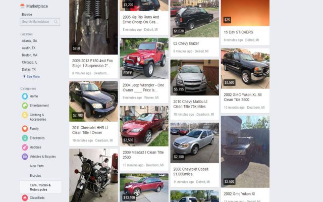 Could you be buying your next car through Facebook?
