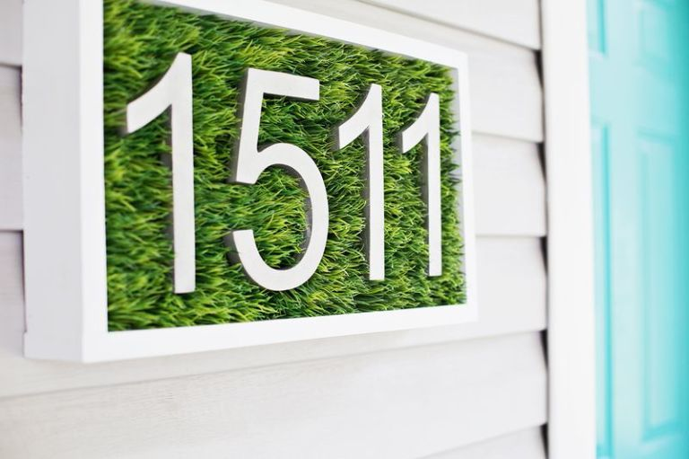 12 DIY House Number Ideas   Cool House Numbers You Can Make image