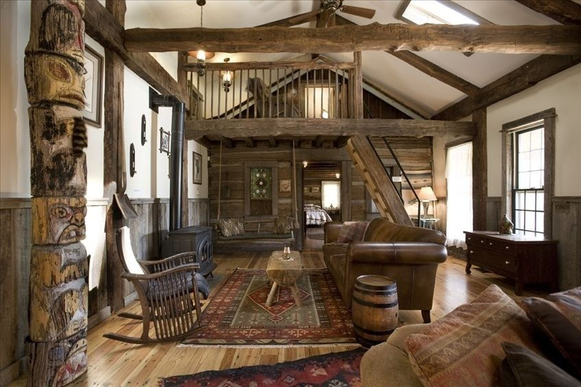 Homeaway Log Cabin Rustic Decorating Ideas