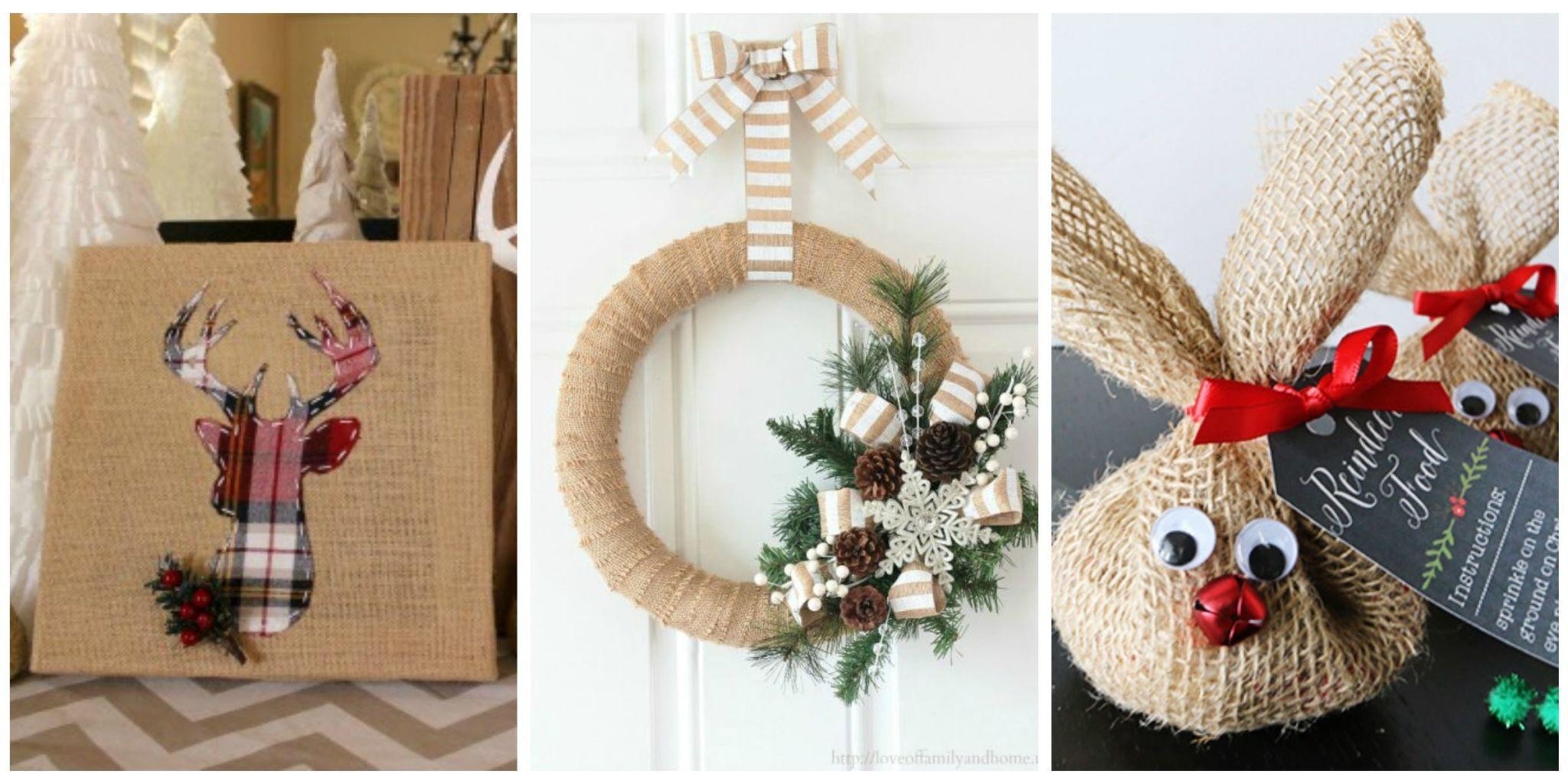 14 Burlap Christmas Decorations
