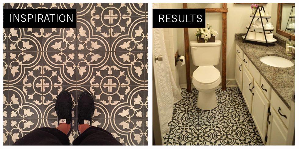 diy painted bathroom floor