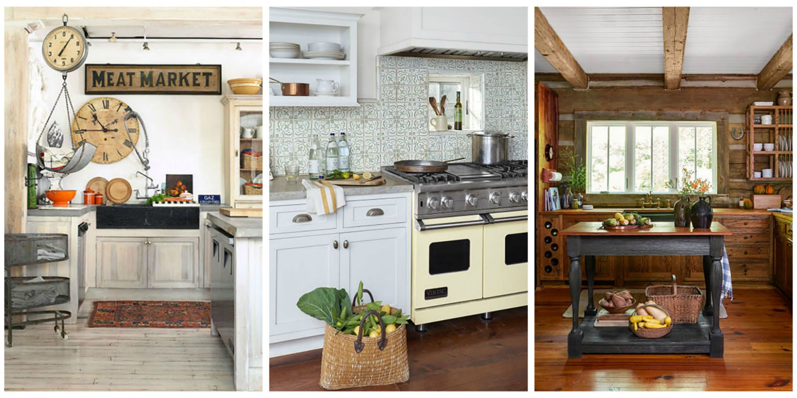 18 Farmhouse Style Kitchens   Rustic Decor Ideas for Kitchens Find more ways to add farmhouse styleto every room of the house  plus   check out our full collection of style inspiration for country homes