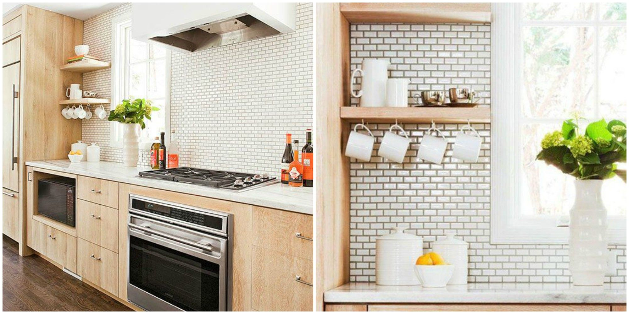 mini subway tiles are the cutest home