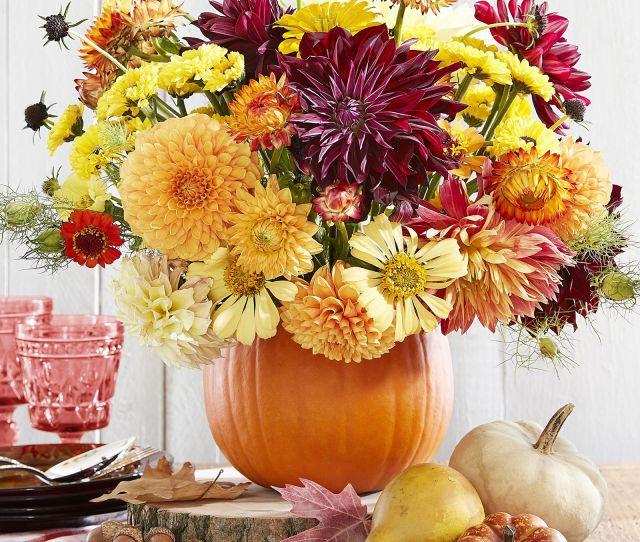 Thanksgiving Centerpiece Pumpkin Vase