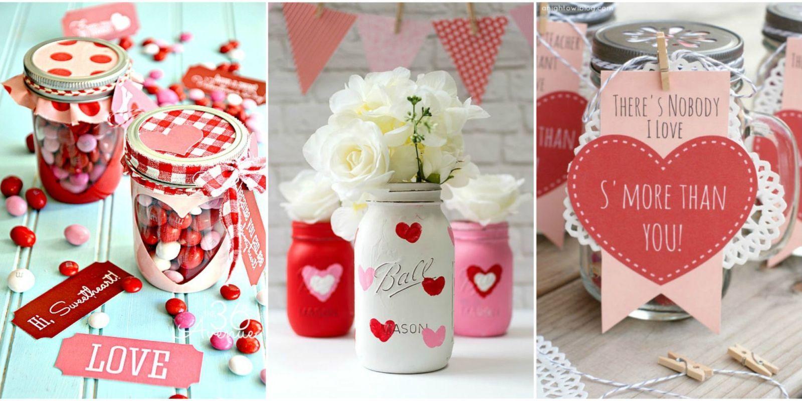 25 Cute Valentines Day Mason Jars Ideas Valentines Day
