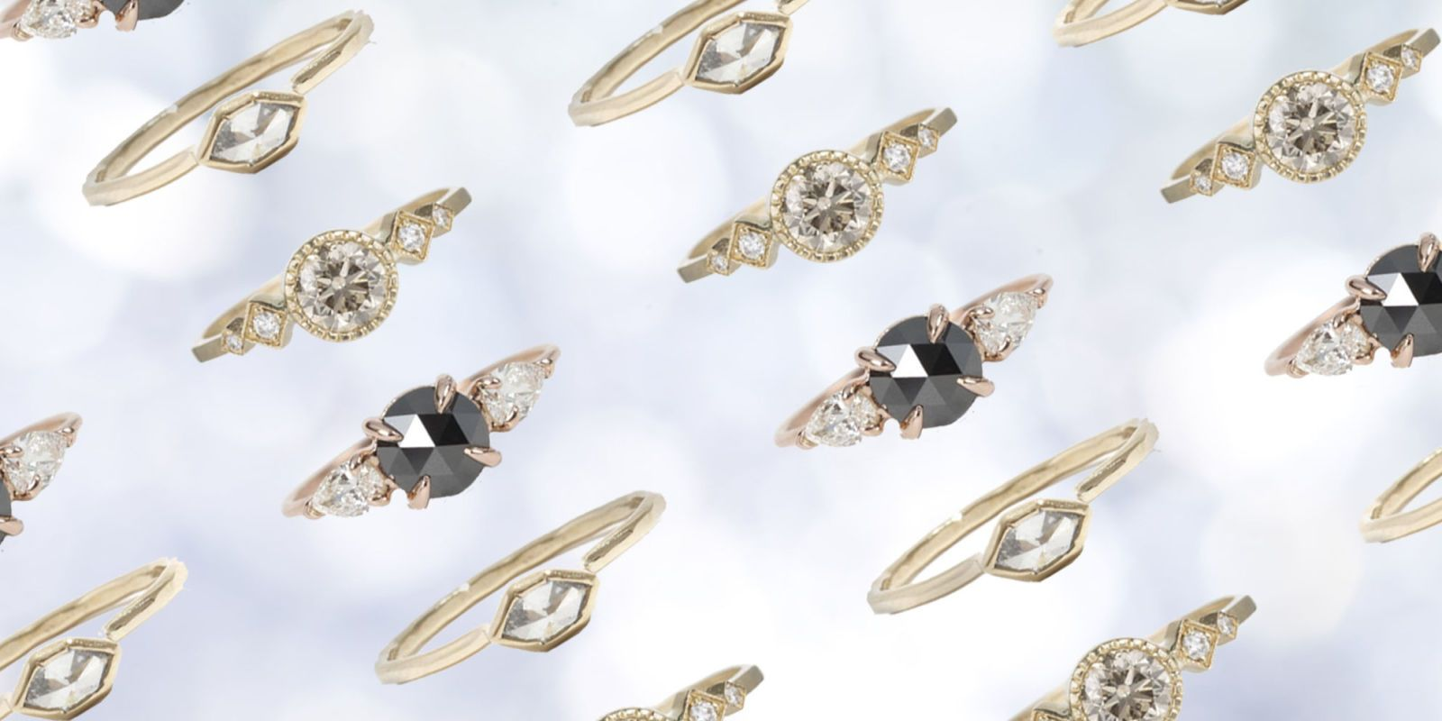 eccentric engagement rings designs by jonathan