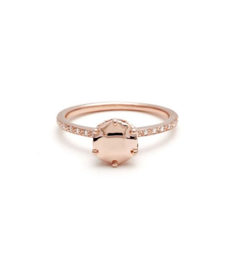 anna sheffield hazeline rose gold solitaire ring