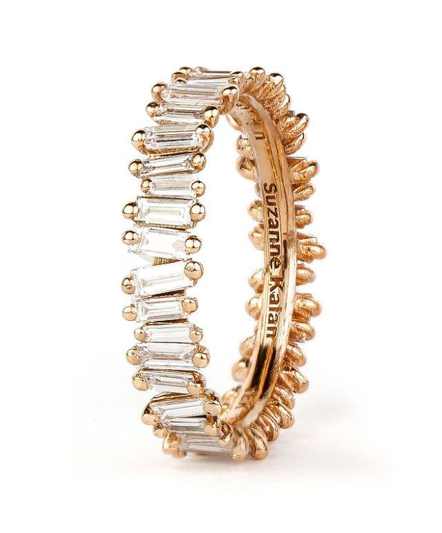 suzanne kalan baguette diamond band ring