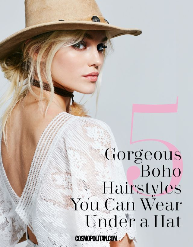 5 cute 5-minute hat hairstyles - how to style hair for a hat