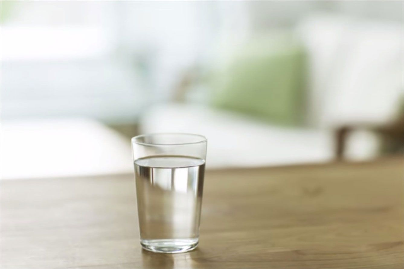 glass of water you leave by your bed