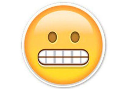 Image result for grimacing face emoji